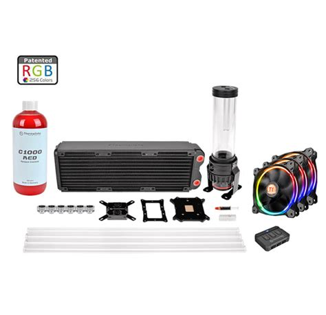 Cpu Cooler Thermaltake Pacific G1 4 Y Adapter Cl W054 Cu00bl A thermaltake pacific rl360 d5 rgb water cooling kit cl w129 ca12sw a