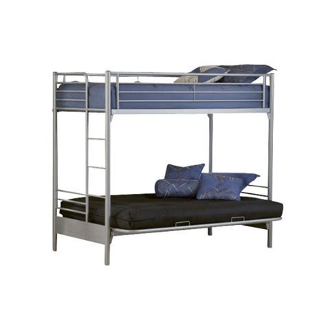 Silver Bunk Beds Hillsdale Universal Youth Futon Bunk Bed In Silver Finish 1178bbf