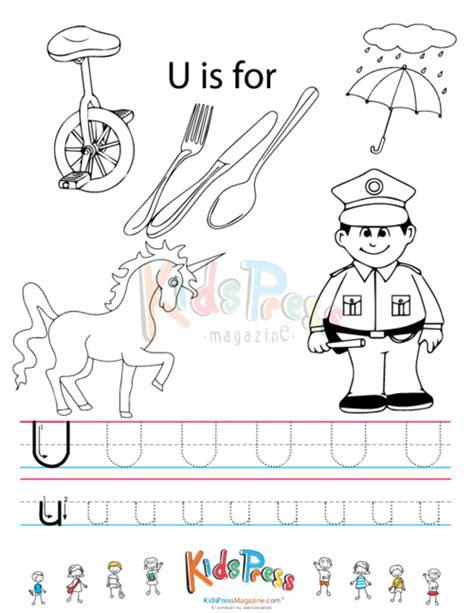 worksheet alphabet u free tracing letter u coloring pages