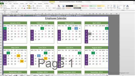 calendar insights excel template