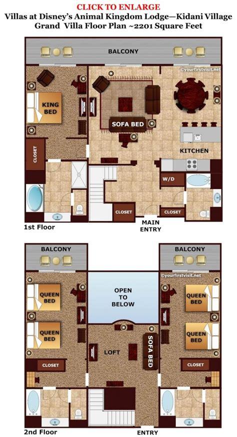 animal kingdom villas floor plan review kidani village at disney s animal kingdom villas