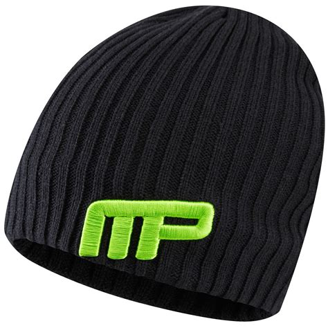 mens knit beanie musclepharm mens knitted beanie winter knit wooly hat ebay