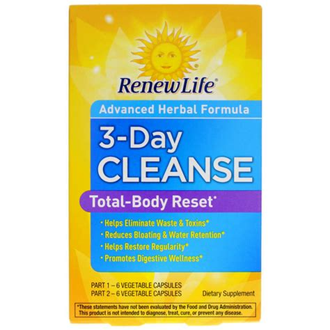 3 Day Total Detox by Renew 3 Day Cleanse 12 Capsules Total Evitamins