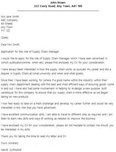Supply Chain Executive Cover Letter by Supply Chain Manager Cover Letter Exle Icover Org Uk