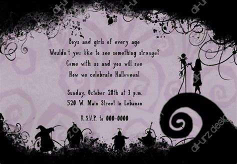 Stirring Nightmare Before Christmas Wedding Invitations Theruntime Com Nightmare Before Invitations Templates Free