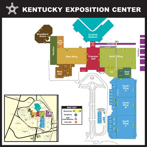 kentucky expo map kentucky exposition center facility maps