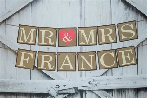 Wedding Banner Mr And Mrs by Custom Wedding Banner Choose Your Colors Mr And Mrs Banner