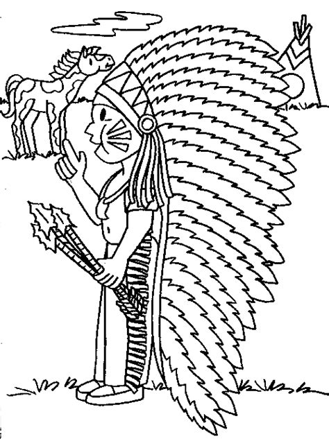 coloring pages indians thanksgiving coloring pages