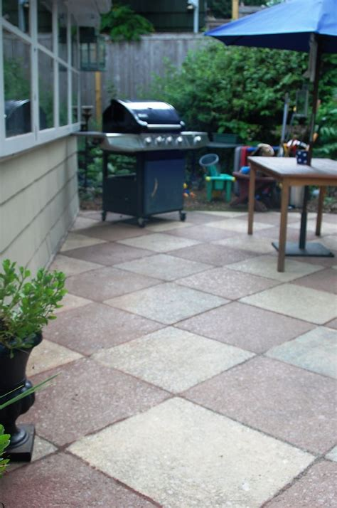 Painting Patio Concrete by 1000 Images About Painted Concrete Patios On