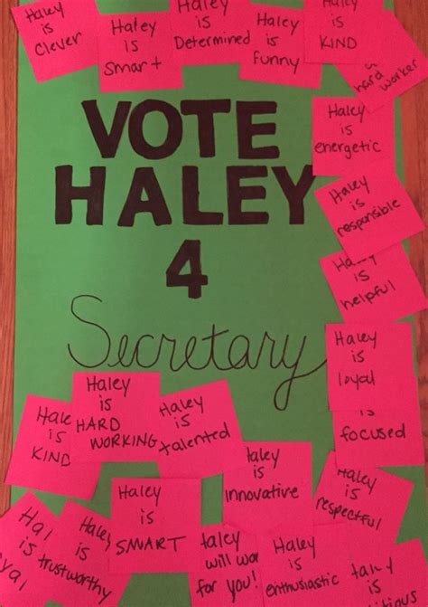 vote for me poster idea tay pinterest poster ideas students