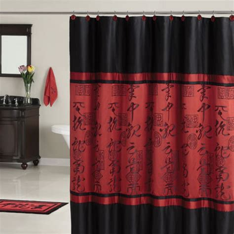 cool black and red curtains and black and red curtains for oriental shower curtain furniture ideas deltaangelgroup