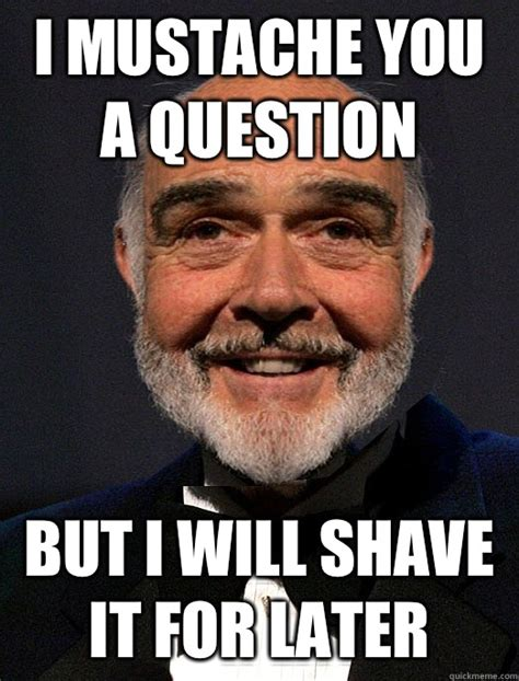 Mustache Dad Meme - i mustache you a question but i will shave it for later