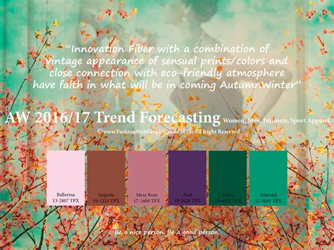 color forecast 2017 aw2016 2017 trend forecasting on behance