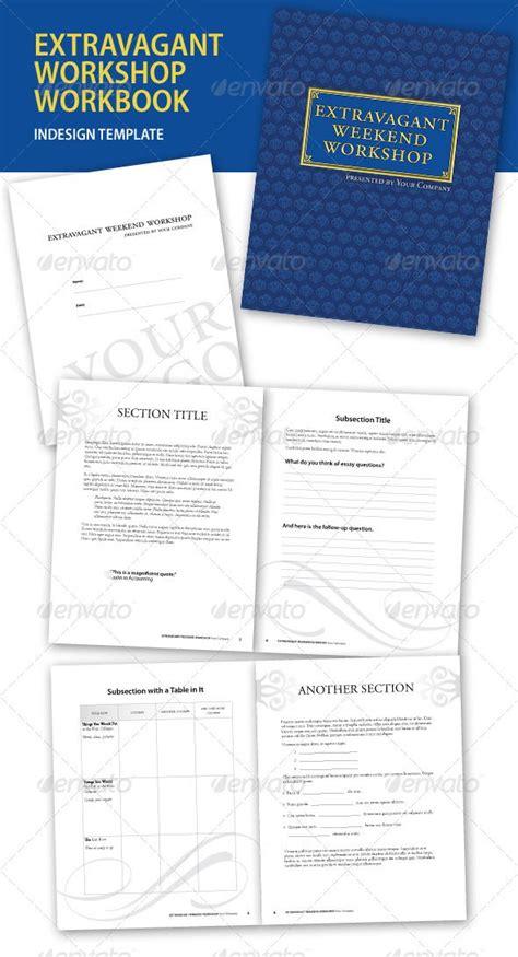 workbook template indesign extravagant workshop indesign workbook template print