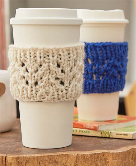 knitting pattern for cup cozy beverage cosy knitting patterns in the loop knitting