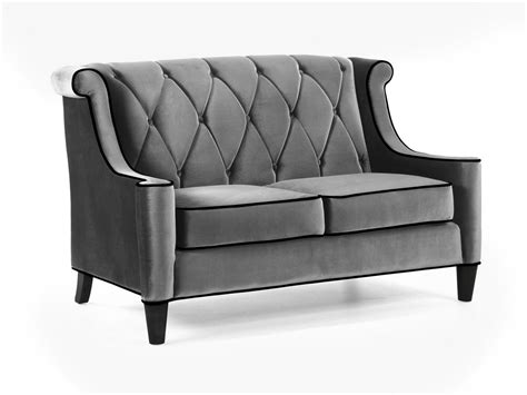 barrister loveseat armen living barrister sofa set gray velvet black piping