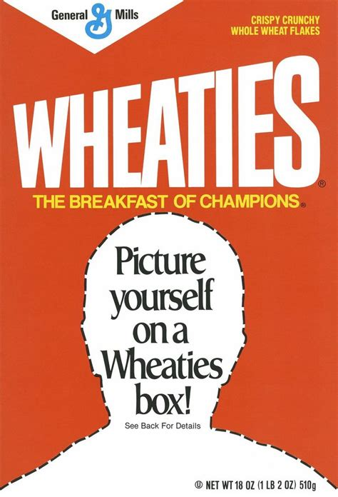 Can You Picture Yourself On A Wheaties Box Cereal Fans The World Over Have Been Dreaming For Custom Cereal Box Template