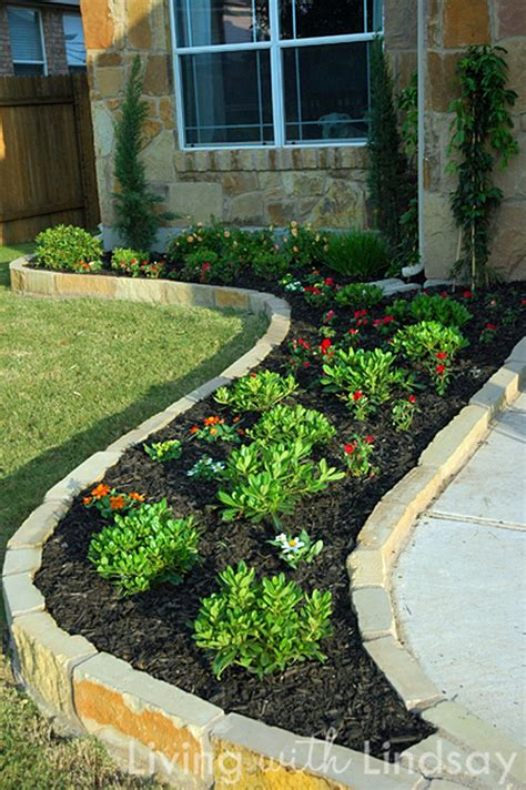 borders for flower beds beautiful raised flower bed stone border 37 onechitecture