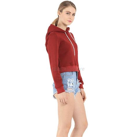 Sweater Hoodiee Jumper Sweater Pria Gc casual hoodie sweatshirt jumper sweater coat sports pullover tops crop top ebay