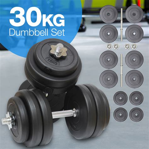 30kg dumbell weights set fitness workout home exercise