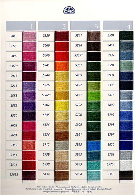 dmc thread colors dmc satin floss color card http www dmc usa products