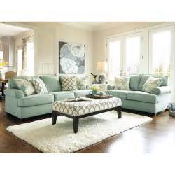 Livingroom Funiture Daystar Seafoam Living Room Set Signature Design By Ashley