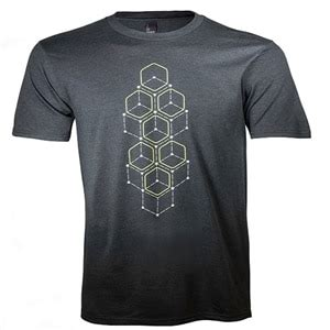 alienware dot hex sleeve t shirt xl dell united states