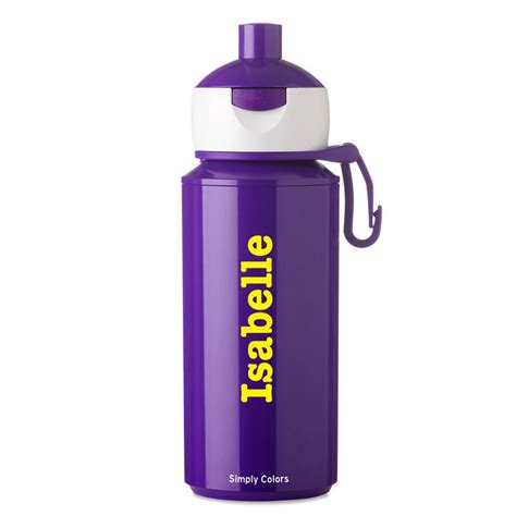 personalised pop up drinking bottle by simply colors