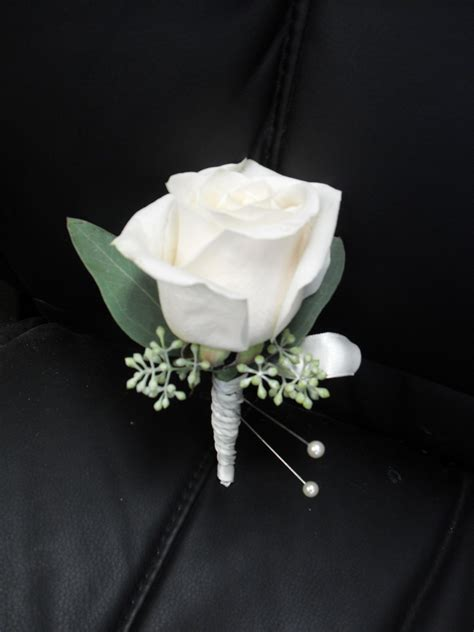 Boutonniere For Prom by White Boutonniere For Wedding And Prom My Corsages