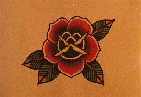 oldschool rose tattoo how to draw an school by thebrokenpuppet