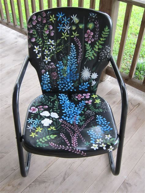 painting metal chairs the cool paint on this metal lawn chair visit