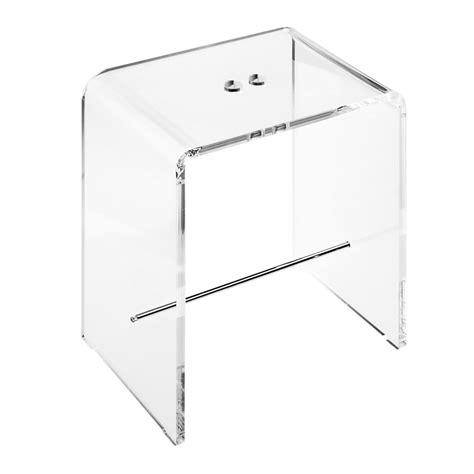 sgabello plexiglass seduta sgabello doccia in plexiglass trasparente