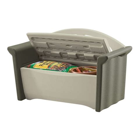 rubbermaid patio storage bench 3764 the simplest outdoor storage bench plans