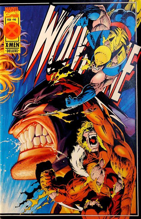 Kaos Wos Wolverine 15 wolverine vol 2 90 by adam kubert tim hildebrant greg hildebrant cool comic book covers