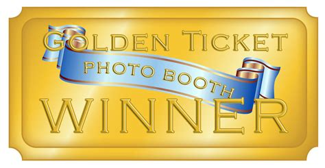 Contest The Lush Golden Ticket by Contest Photo Booth Golden Ticket Random Winner Or Quiz