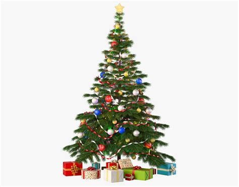 christmas tree with gifts 3d model max obj cgtrader com