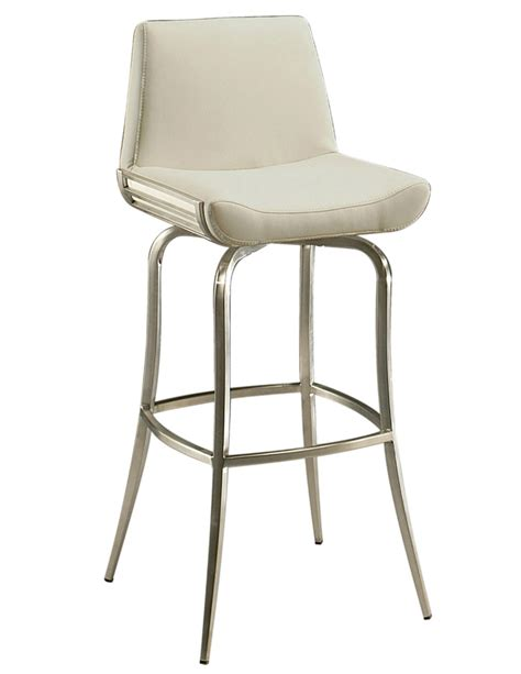 Stainless Steel Bar Stool Degorah Bar Stool Stainless Steel Ivory Finish Dg 219 30 Ss 978 Decor South