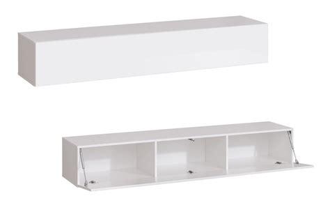 meuble de salon tv suspendu blanc pour salon