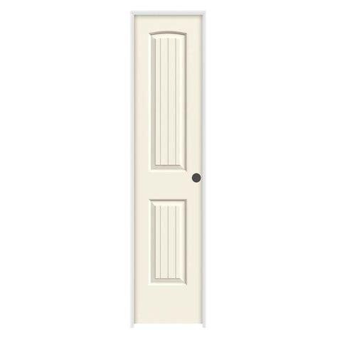 18 Prehung Interior Door Jeld Wen 18 In X 80 In Molded Smooth 2 Panel Arch Plank Vanilla Solid Composite
