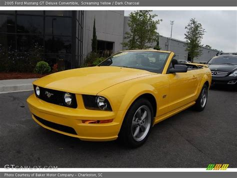 2005 ford mustang yellow 2005 ford mustang gt deluxe convertible in screaming