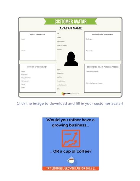 avatar template customer avatar worksheet the template customer