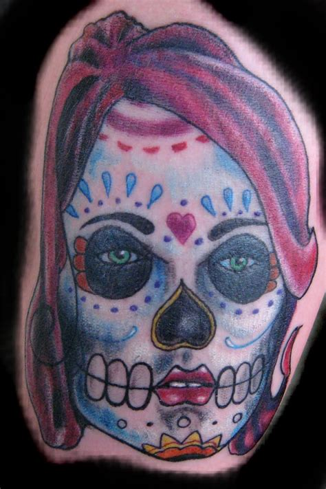 sugar skull woman tattoo designs sugar skull design