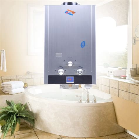 bathroom water heater ship from germany 8liter methane gas instant household