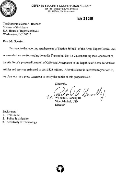 Employment Letter In Singapore Federal Register 36 B 1 Arms Sales Notification