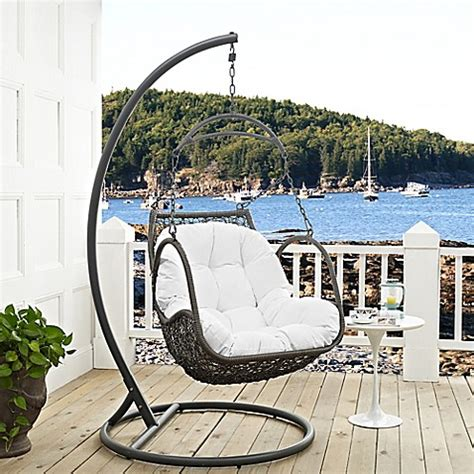 stand alone porch swing buy modway arbor patio stand alone swing chair in white