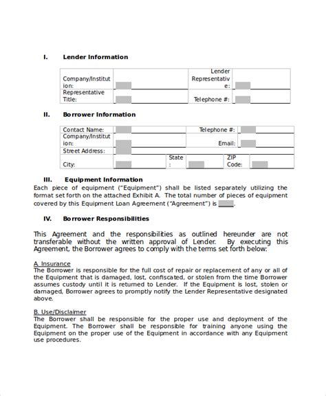 payday loan agreement template loan agreement 10 pdf word documents free