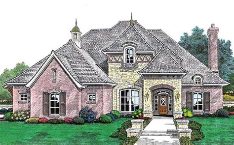 european country house plan 66211