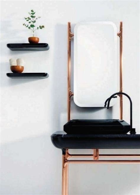 stand alone sinks for bathroom decorating ideas black white bathroom copper sink