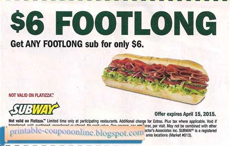 subway printable coupons blogspot printable coupons 2017 subway coupons