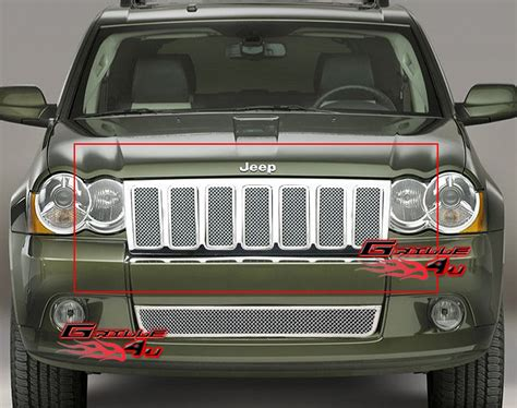 Jeep Grand Grill Inserts For 09 10 Jeep Grand Stainless Mesh Grille Insert